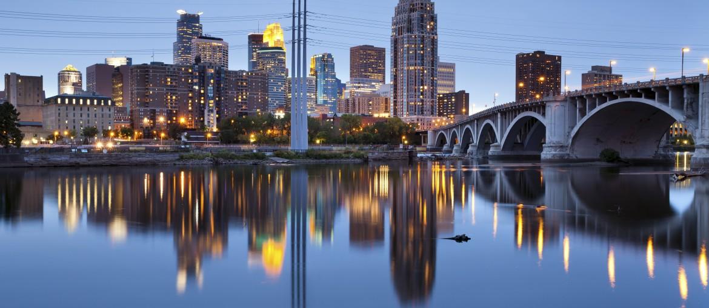 Skyline i Minneapolis