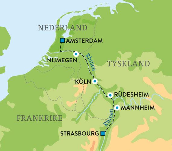 kart over rhinen Våre reiser   Escape Travel kart over rhinen