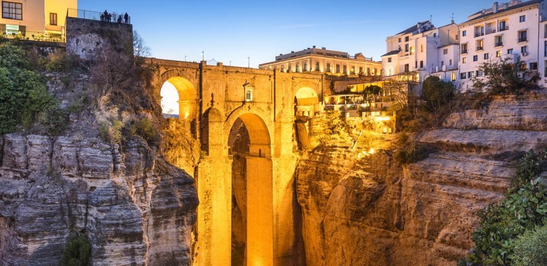 Ronda, Spania Puento Nuevo broen Andalucia