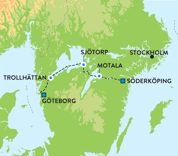 gøtakanalen kart Middelaldercruise på GÖTA KANAL gøtakanalen kart