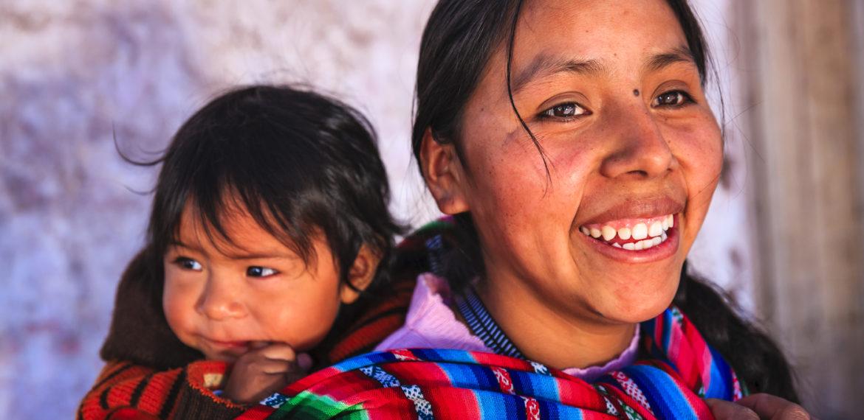 Peru kvinne med barn
