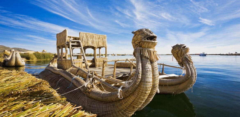 Titicacasjøen Peru Uros