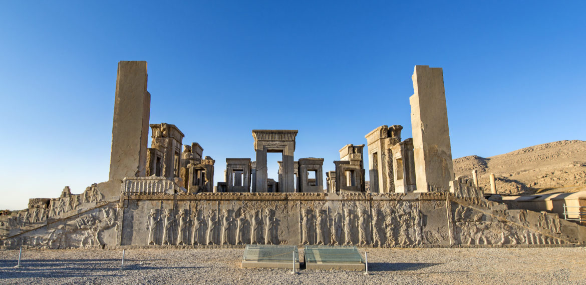 Ruins of the Apadana, Persepolis, Iran