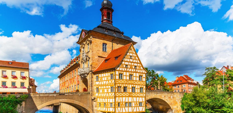 Rådhuset i Bamberg Tyskland