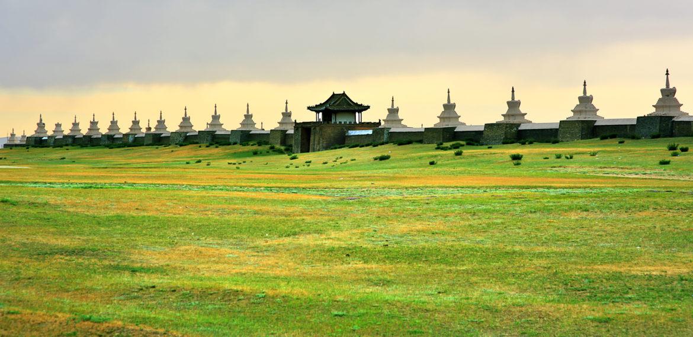 Kharakorums bymurer Mongolia