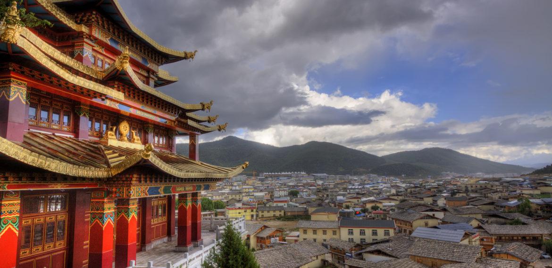 Zhongdian by, Yunnan, Kina