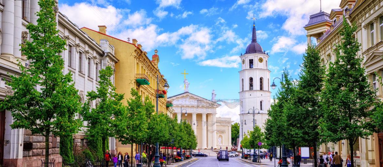 Gediminas Avenue og Katedralplassen, Vilnius