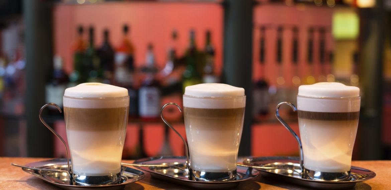 Latte kaffe Italia