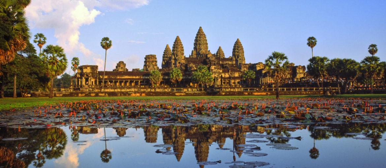 Angkor Vat i solnedgangen