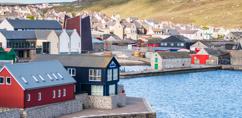 Lerwick by på Shetland