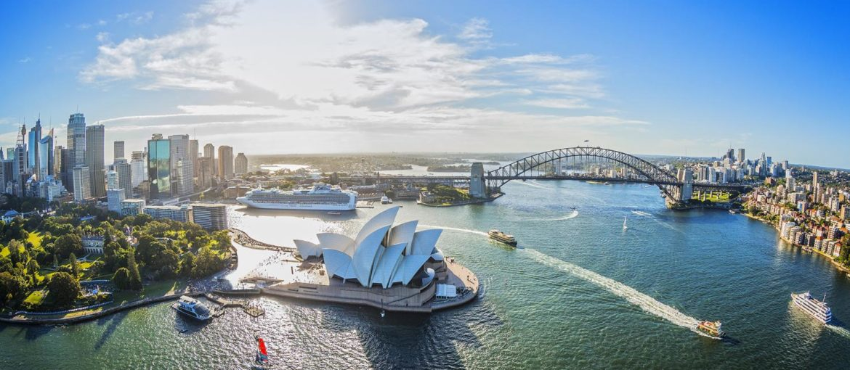 Det verdensberømte operahuset i Sydney.