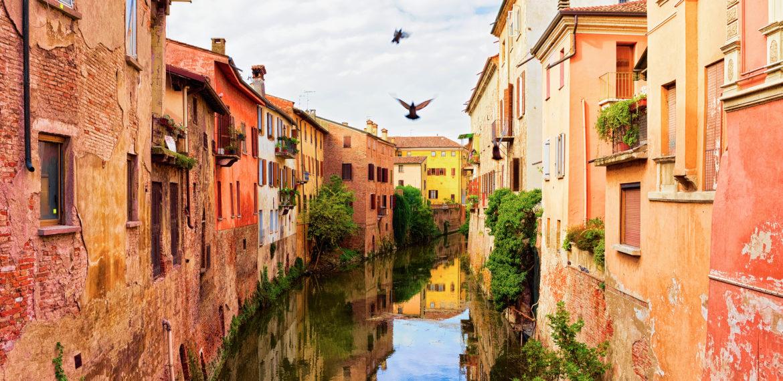 Kanal i gamlebyen i Mantova